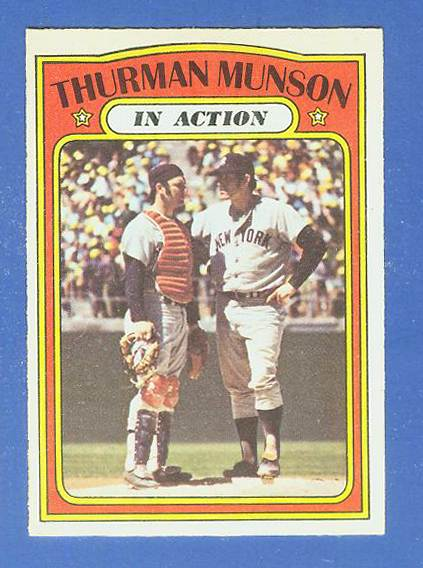 1972 O-Pee-Chee/OPC #442 Thurman Munson In-Action (Yankees) Baseball cards value