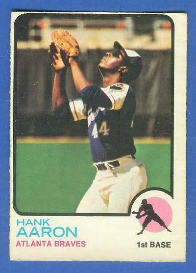 1973 O-Pee-Chee/OPC #100 Hank Aaron [#b] (Braves) Baseball cards value