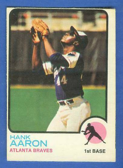 1973 O-Pee-Chee/OPC #100 Hank Aaron [#c] (Braves) Baseball cards value