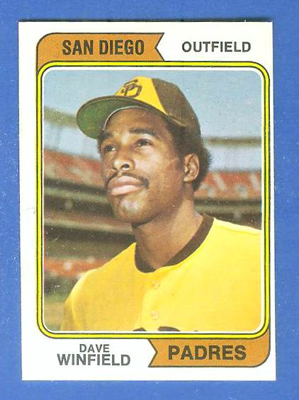 1974 O-Pee-Chee/OPC #456 Dave Winfield ROOKIE (Padres Hall-of-Famer) Baseball cards value