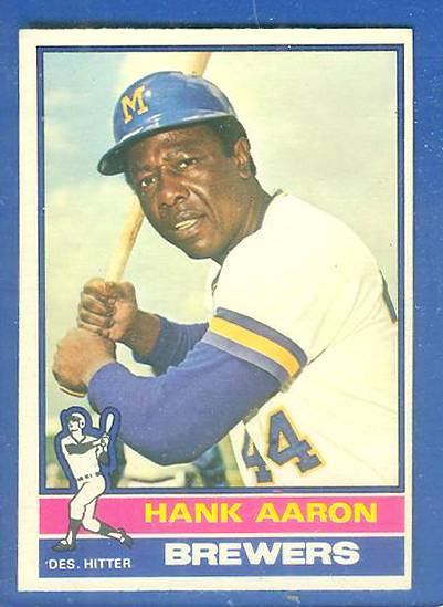 1976 O-Pee-Chee/OPC #550 Hank Aaron (Brewers) Baseball cards value