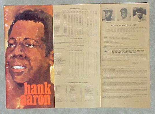 HANK AARON - 1973 'Press, Radio & TV Guide'  (24 pages) Baseball cards value