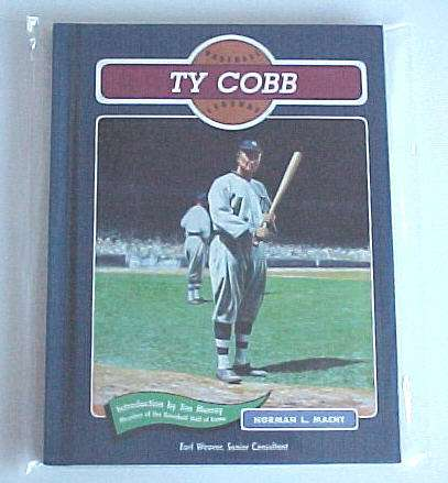 Hard back book: 'Ty Cobb - Baseball Legends' (1991) Baseball cards value