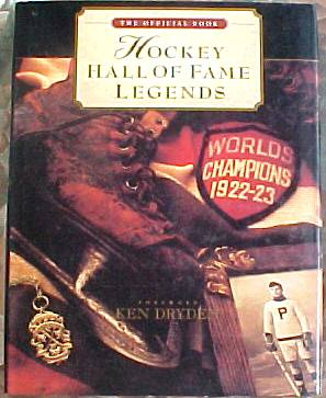 'Hockey Hall of Fame Legends' - Hard back book (9x12 approx) (200 pages) Hockey cards value