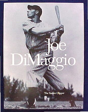 'JOE DiMAGGIO - The Yankee Clipper' - Hard back book (128 pages) Baseball cards value