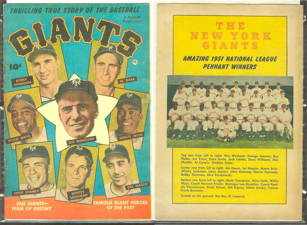 1952 GIANTS #1 Comic Book - 1951 Giants-Team of Destiny [#a] Willie Mays Baseball cards value