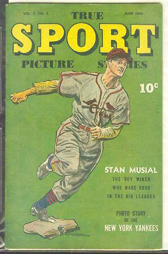 1944 True Sport #2-7 Comic Book - Features Stan Musial + NY Yankees Baseball cards value