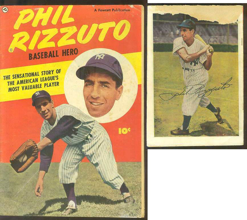 1951 Phil Rizzuto Baseball Hero Comic Book Yankees Cards Value