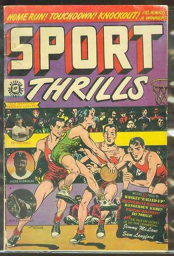 1950 Sport Thrills #13 Comic Book - Jackie Robinson/Roy Campanella cover Baseball cards value