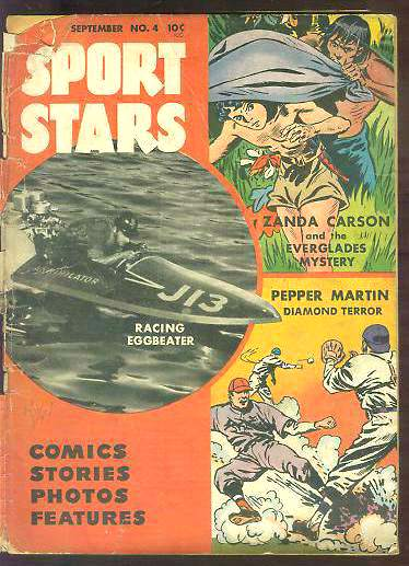 1948 Sport Stars #4 Comic Book (color) / Magazine (b/w) (58 pages) Baseball cards value