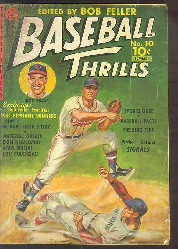 1951 ? Baseball Thrills #10 (#1) Comic Book (Edited by Bob Feller) Baseball cards value