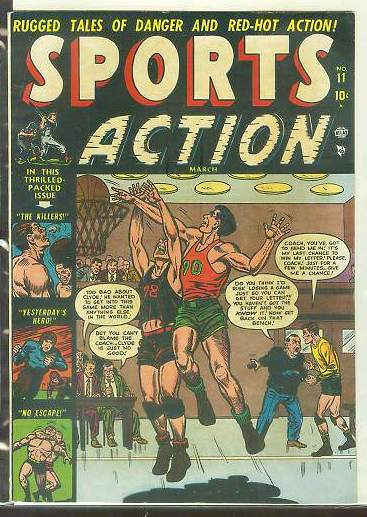1952 Sports Action #11 Comic Book Baseball cards value