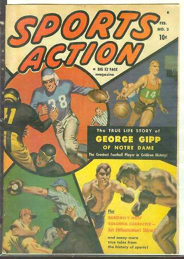 1952 Sports Action #.2 Comic Book (52 pages!) Baseball cards value