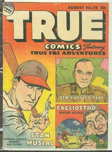 1949 True Comics #78 Comic Book - Stan Musial ... Baseball cards value