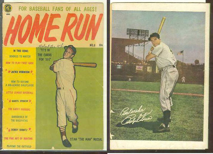 1953 Home Run #3 Comic Book - Stan Musial cover [#a] Baseball cards value
