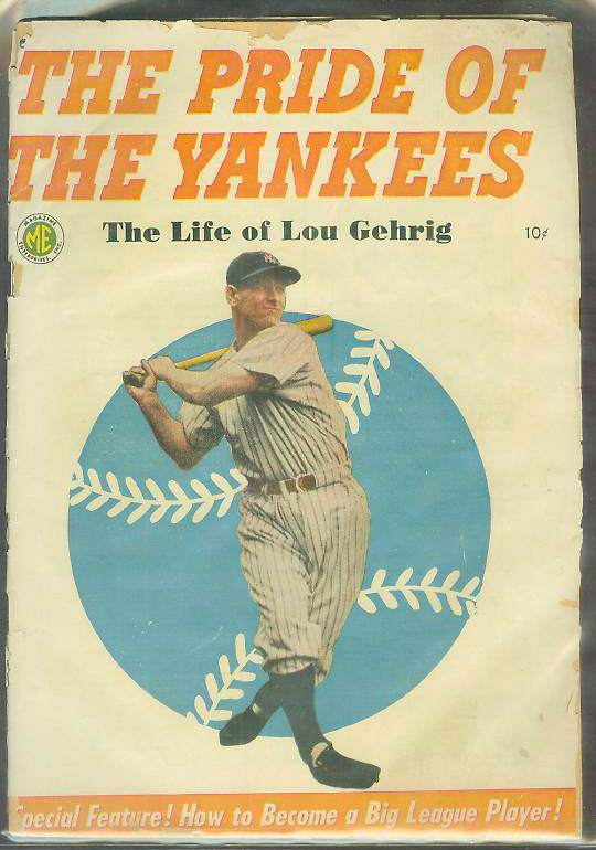 1949 Lou Gehrig 'Pride of the Yankees' Comic Book Baseball cards value