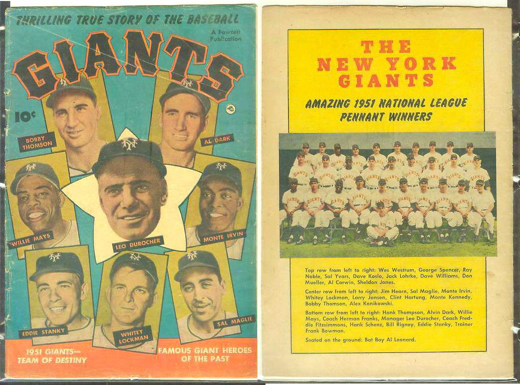 1952 GIANTS #1 Comic Book - 1951 Giants-Team of Destiny [#b] Willie Mays Baseball cards value