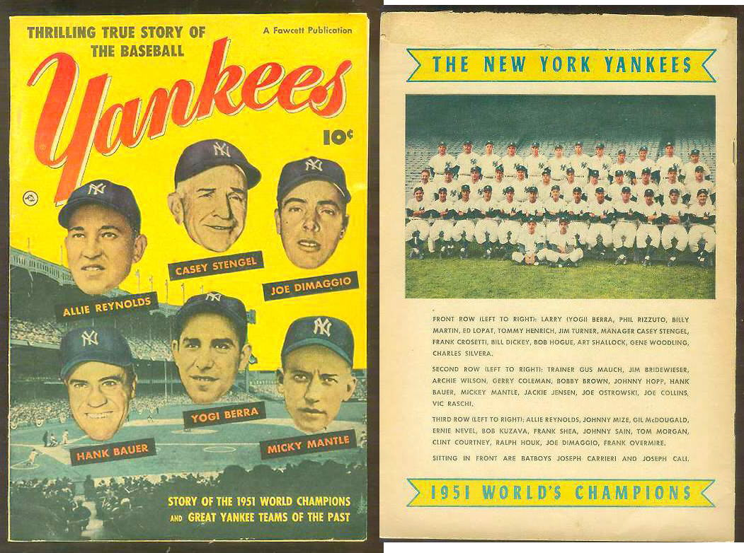 1952 YANKEES #1 Comic Book - 1951 Yankees & Great Yankee Teams of the Past Baseball cards value