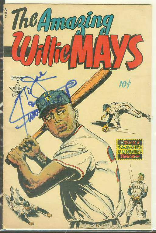 1954 The AMAZING WILLIE MAYS comic book - AUTOGRAPHED !!! Baseball cards value
