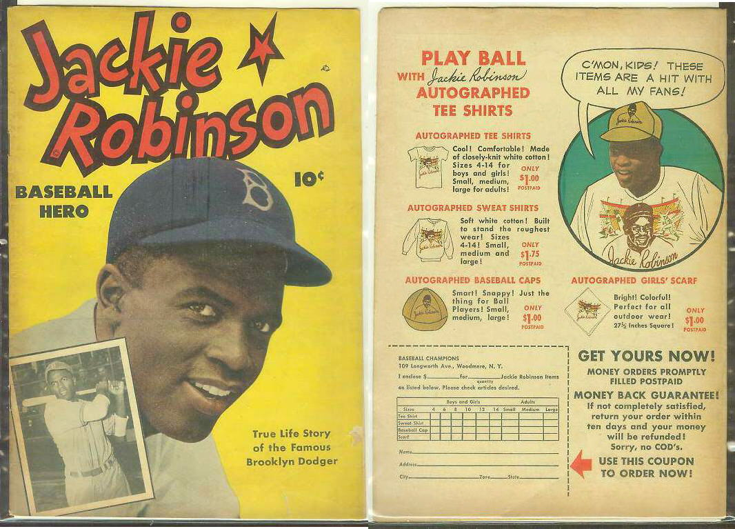 1949 Jackie Robinson #1 Comic Book (Dodgers) Baseball cards value