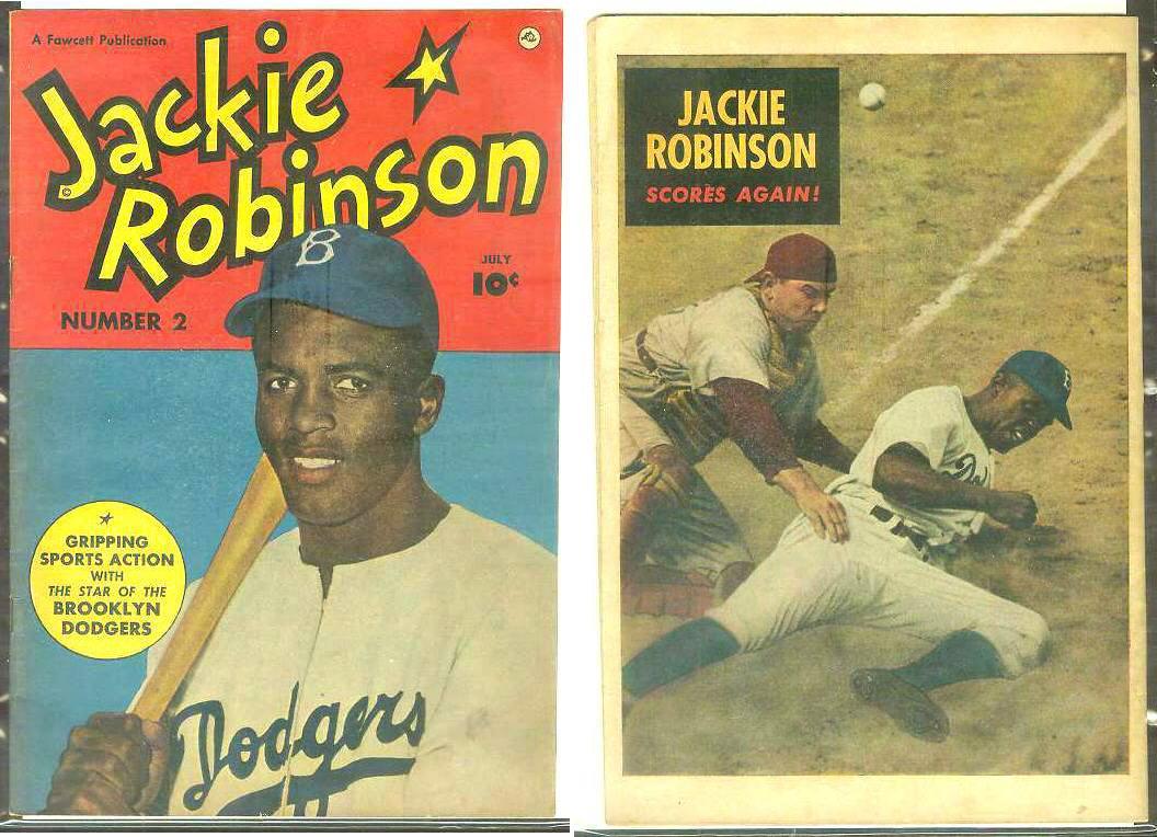 1949 Jackie Robinson 2 Comic Book Dodgers