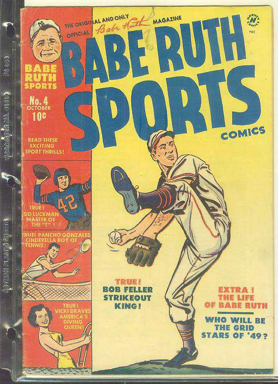 1949 Babe Ruth Sports #4 Comic Book Baseball cards value