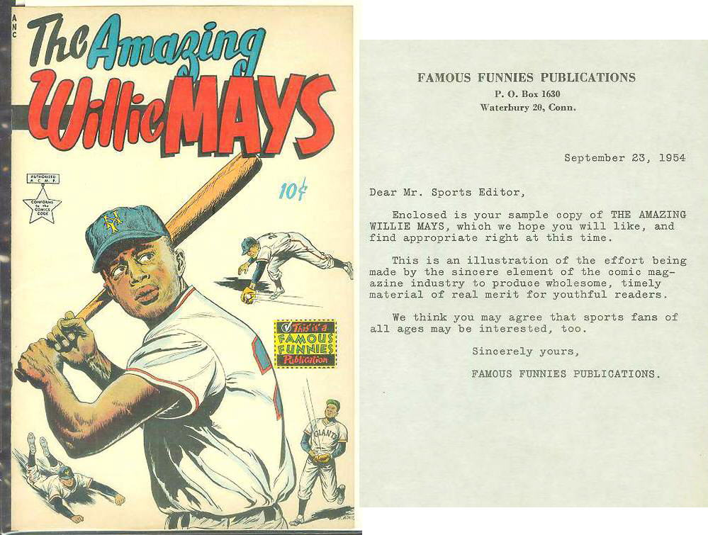 1954 The AMAZING WILLIE MAYS comic book - RARE FILE COPY !!! Baseball cards value
