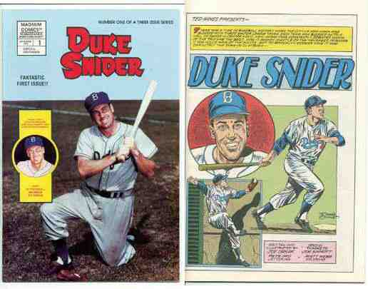 Duke Snider - 1992 COMIC BOOK #1 BAGGED Lot of (10) Fantastic First Issues Baseball cards value