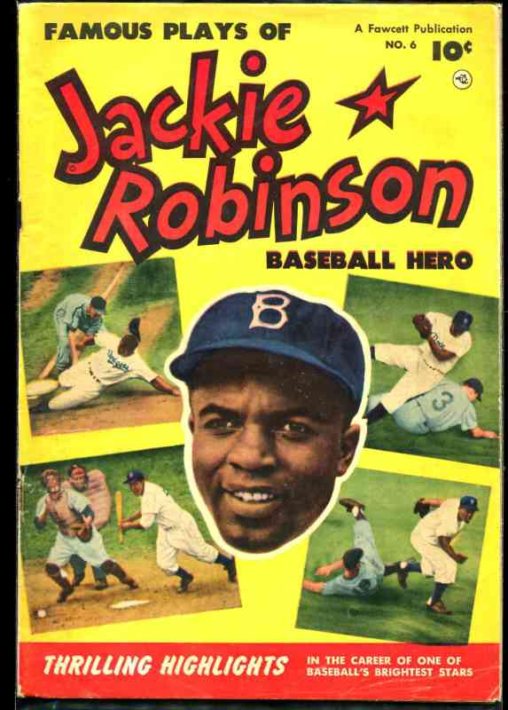 1952 Jackie Robinson #6 Comic Book (Dodgers) Baseball cards value