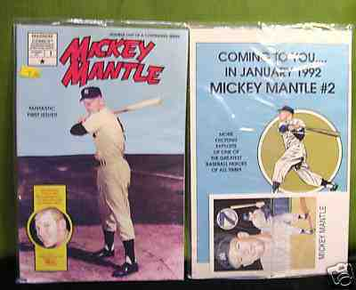 MICKEY MANTLE - 1991 COMIC BOOK #1 BAGGED- Lot of (10) Fantastic 1st Issue Baseball cards value