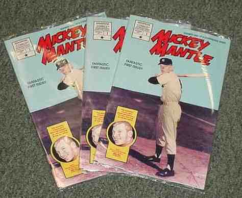 MICKEY MANTLE - 1991 COMIC BOOK #1 - Lot of (10) 'Fantastic 1st Issue !!' Baseball cards value