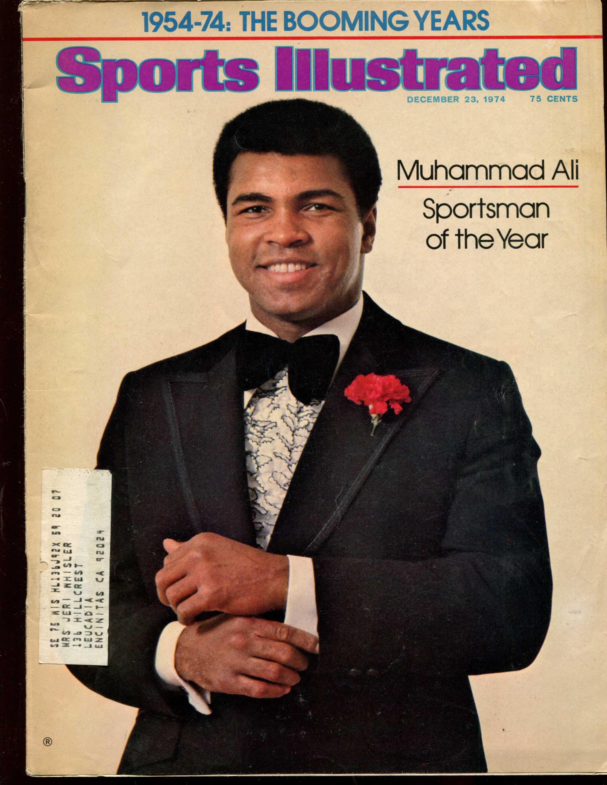 Sports Illustrated (1974/12/23) - Muhammad Ali SPORTSMAN of