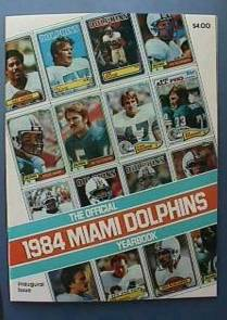 DAN MARINO -  1984 Miami Dolphins Yearbook (1st season!) Football cards value