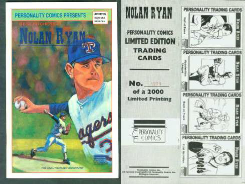 NOLAN RYAN - 'Best Pitchers #1' - LIMITED EDITION 1992 Personality Comics Baseball cards value