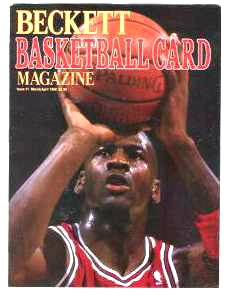 MICHAEL JORDAN - BECKETT BASKETBALL #1 (March/April 1990) Basketball cards value