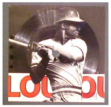Vintage LOU BROCK '3000 Hit Club' 33-1/3 RPM Record Baseball cards value