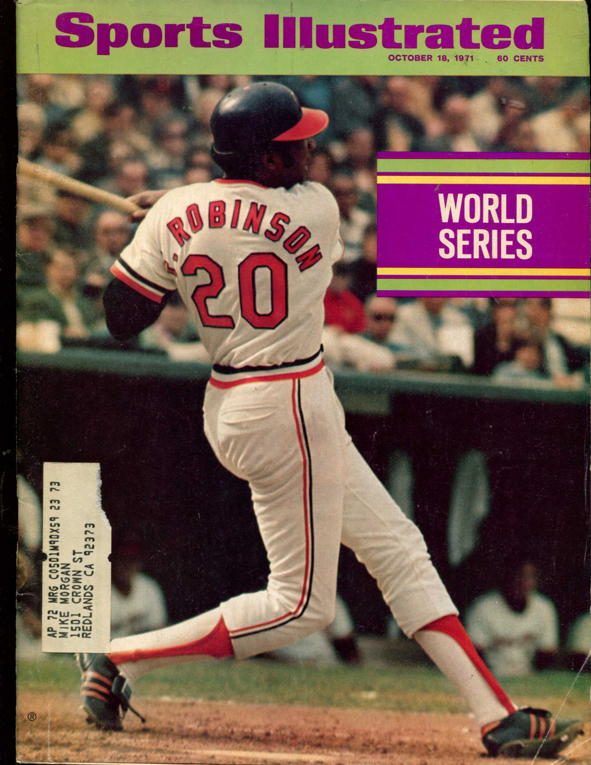 Sports Illustrated (1971/10/18) - WORLD SERIES Fr. Robinson Pirates/Orioles Baseball cards value