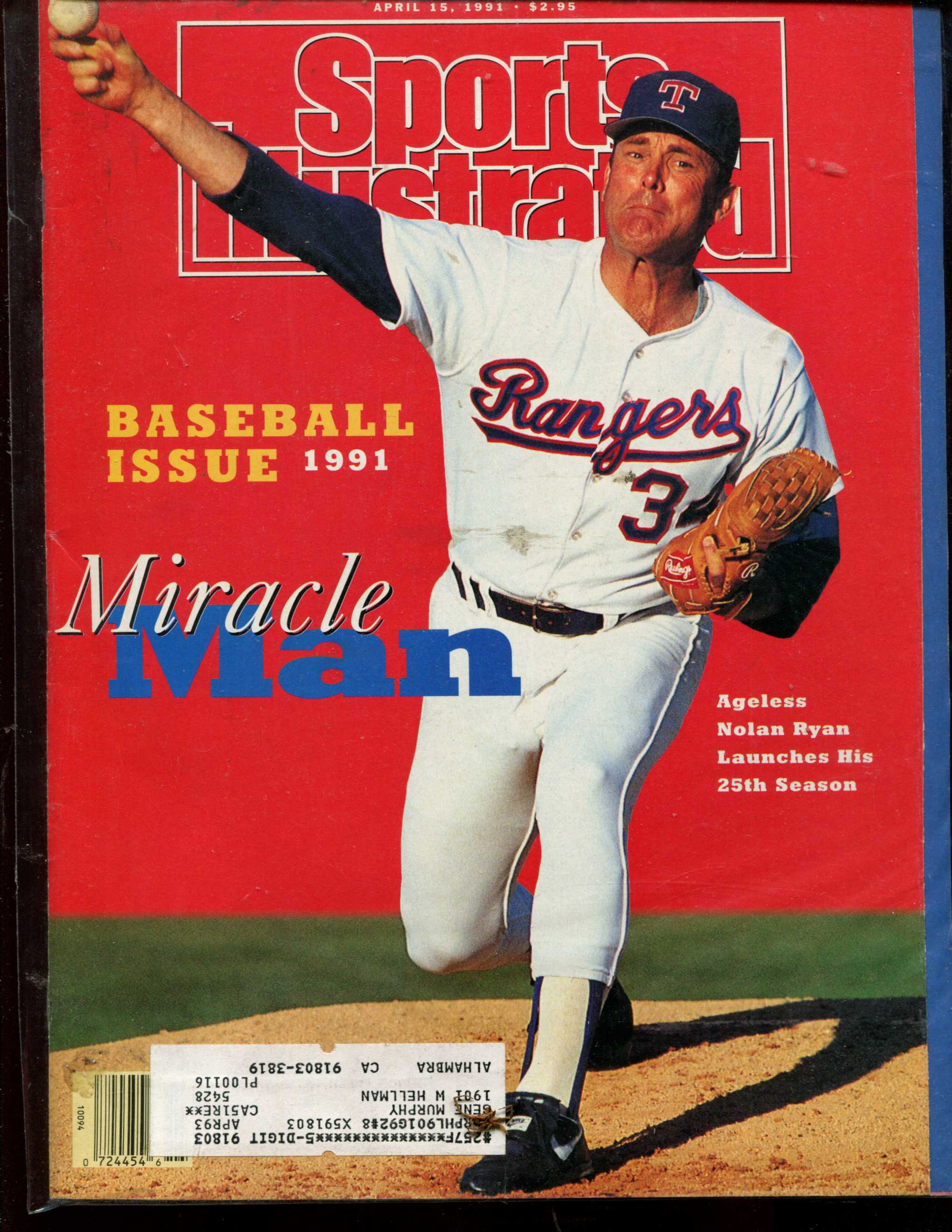 Sports Illustrated (1991/04/15) - Special Baseball Issue w/Nolan Ryan cover Baseball cards value