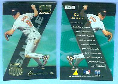 Cal Ripken - 1996 Zenith Z-TEAM #3 PROMO (Orioles) Baseball cards value