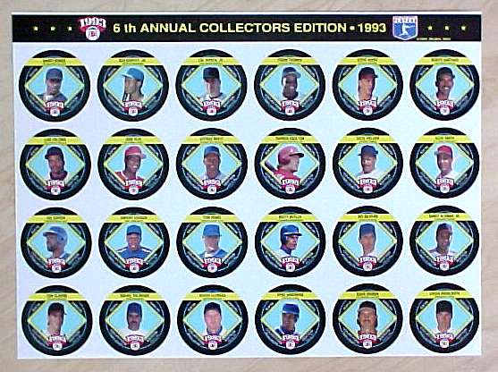 1993 King-B COMPLETE SET  (24) in UNCUT PERFORATED SHEET (17x13 in.) !!! Baseball cards value