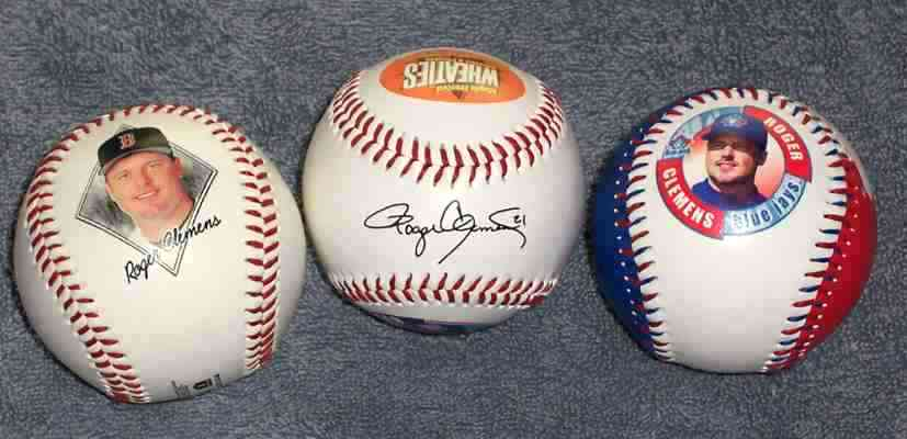 Roger Clemens - WHEATIES Commemorative Baseball (by Fotoball 1998?) Baseball cards value
