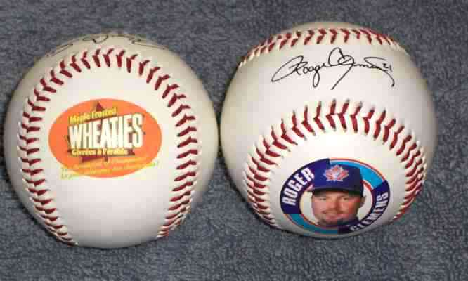 Roger Clemens - 1998 Fotoball Commemorative Baseball (Blue Jays) Baseball cards value