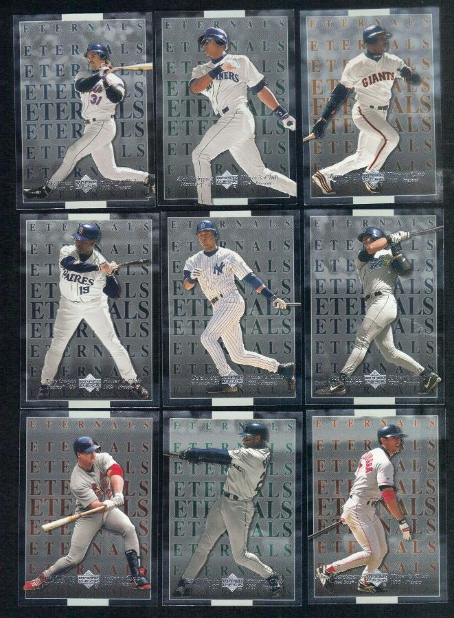 2000 Upper Deck Hitters Club - ETERNALS - Complete Insert Set (10 cards) Baseball cards value