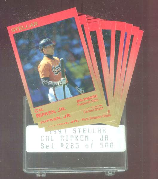 Cal Ripken - 1991 Star Company STELLAR GLOSSY Complete 9-card Set Baseball cards value