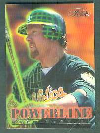 1996 Flair 'POWERLINE' - Complete 10-card Insert Set Baseball cards value
