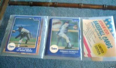 Fernando Valenzuela - 1987 Star Company Complete Set (In Original Rack !!! Baseball cards value