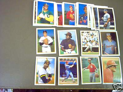 1988 Topps GLOSSY SEND-INS - COMPLETE SET (60 cards) Baseball cards value