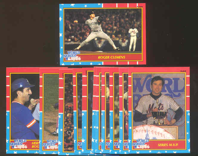 1987 Fleer GLOSSY - Special 1986 Mets/Red Sox World Series insert set Baseball cards value