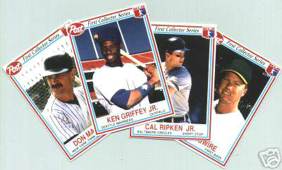 1990 Post Cereal - Complete (30) card set Baseball cards value