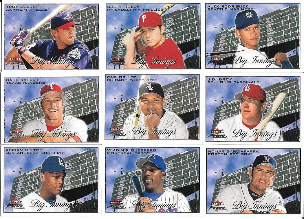 2001 Fleer Focus - BIG INNINGS - Complete Insert Set (25 cards) Baseball cards value